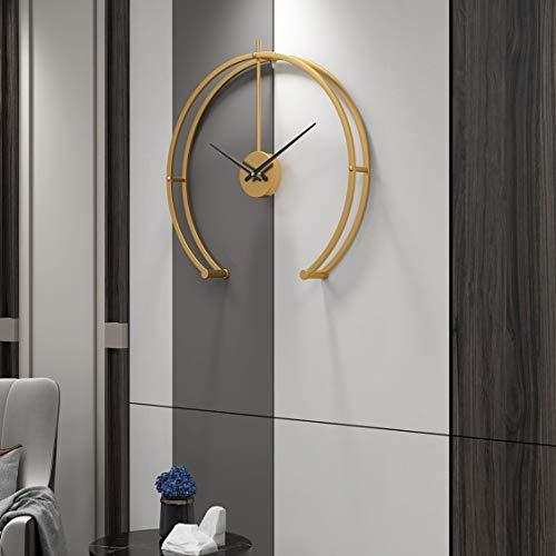 Funtabee Quirky - Reloj de pared de 50 cm de gran tamaño para salas de estar, moderno reloj de pared, silencioso, ideal para salones, cocinas, lofts, cafés, oficinas