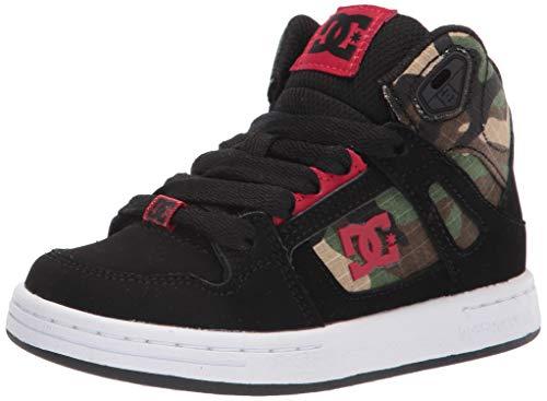 DC boys Pure High-top Skate Shoe, Black/Camo, 11 Little Kid US