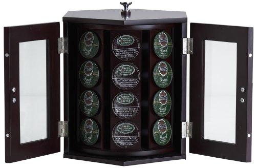Wallace mahogany finish Rotating Coffee Pod Cabinet