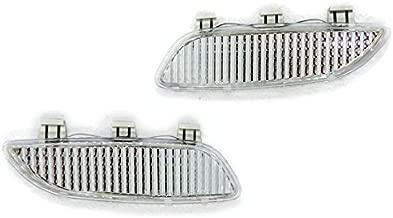 Clear Bumper Side Marker Reflectors by DEPO Fit for 2008-2013 BMW 3 Series E90/E92/E93