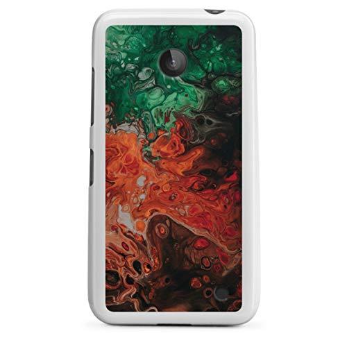 Silikon Hülle kompatibel mit Nokia Lumia 630 Dual SIM Hülle weiß Handyhülle Farbverlauf Wasserfarbe Design