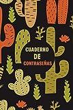 Cuaderno De Contraseñas: Libreta para sus contraseñas secretas con pestañas alfabeticas, tamaño pequeño A5. Idea Para Regalar. Diseño Cactus Verdes