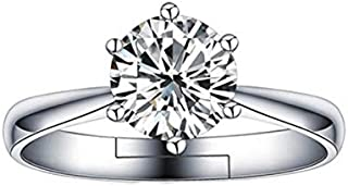 JRosee Swarovski Element Weding Engagement Ring for Women Adjustable Size 14