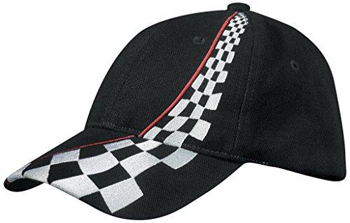 MYRTLE BEACH Casquette 6 Panneaux Style Racing (Black)