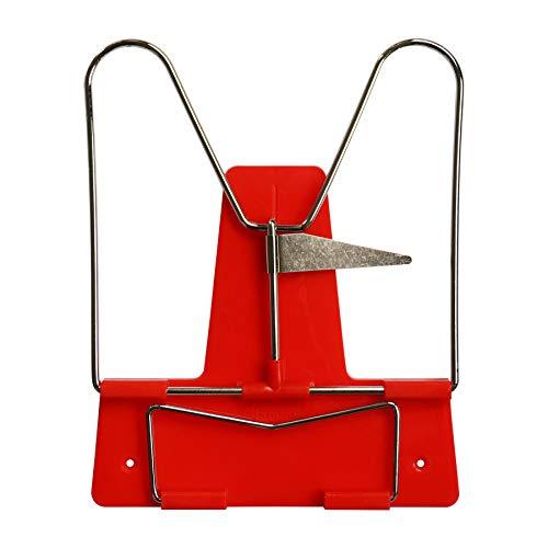 Idena 12083 - Leseständer mit Metallbügel, rot, 1 Stück