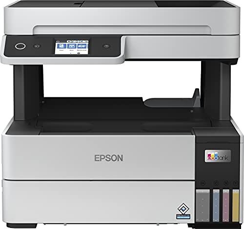 Epson EcoTank ET-5170 4-in-1 Tinten-Multifunktionsgerät (Kopierer, Scanner, Drucker, Fax, A4, ADF, Duplex, WiFi, Ethernet, Bildschirm, USB 2.0), großer Tintentank, hohe Reichweite, niedrige Seitenkosten