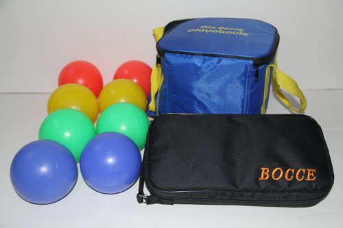 BuyBocceBalls Bocce Package - Glow in Dark Light up Set and 73mm Metal Petanque Set [Misc]