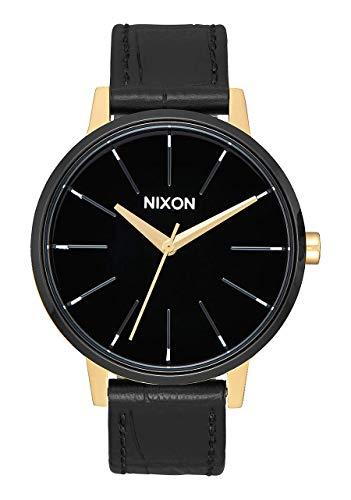 Nixon - Kensington Leather 37 mm Gold / Black / White - Armbanduhr Damen