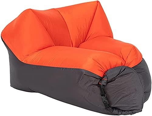 Aufblasbare Sofas Luftfahrluftsofa mit tragbarem Paket, um den Campingplatz Wanderungspool-Strandpartys zu unternehmen (Color : Orange)