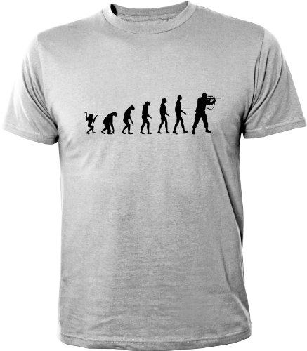 Mister Merchandise Cooles Herren T-Shirt Evolution Paintball Gotcha Soldier, Größe: XL, Farbe: Grau