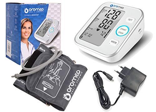 Blutdruckmessgerät Oberarm-Blutdruckmessgerät # mit WHO Ampel Farbskala & Netzteil ORO-N6 BASIC