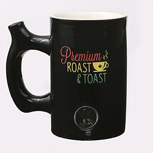 "Fashion Craft 82346 Premium Roast & Toast Mug, 5 1/4 x 6 x 4 1/4"", Black"