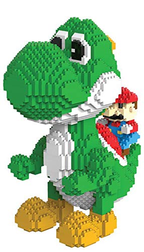 Figura Yoshi Super Mario Bros Bloques tamano 20 cm DIY Mini Building coleccion