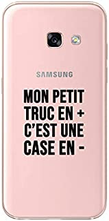 ZOKKO Case for Samsung A3 2017 My Little Extra Things Less Case – Transparent Soft Ink Black