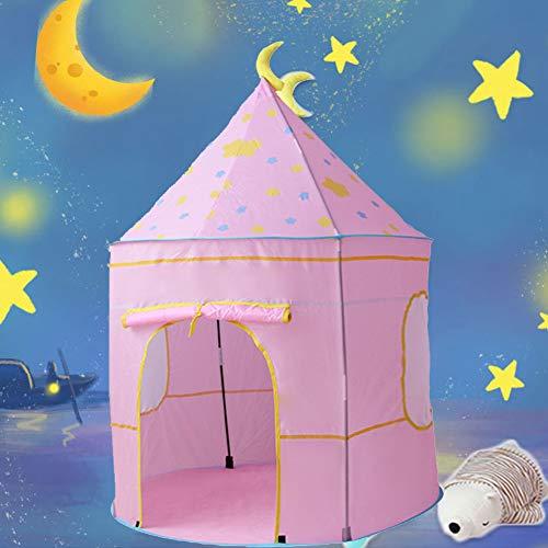 Casa de juegos para niños, castillo de las princesas, plegable Cabaña Infantil Princesa Interior Tienda para Niños Pop Up Carpa Plegable Juego de Castillo