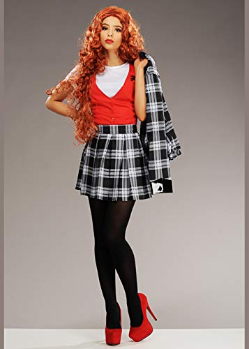 Magic Box Disfraz de Cheryl Blossom Rojo Estilo Riverdale para Mujer Small (UK 8-10)