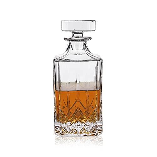 Viski Admiral Decanter Liquor Glass Sets, 30oz, Clear