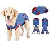 Pup-Town - Traje de recuperación para mascotas, perros y gatos después de la cirugía, vendajes alternativos E-Collares, antilamer para postcirugía (2XL)
