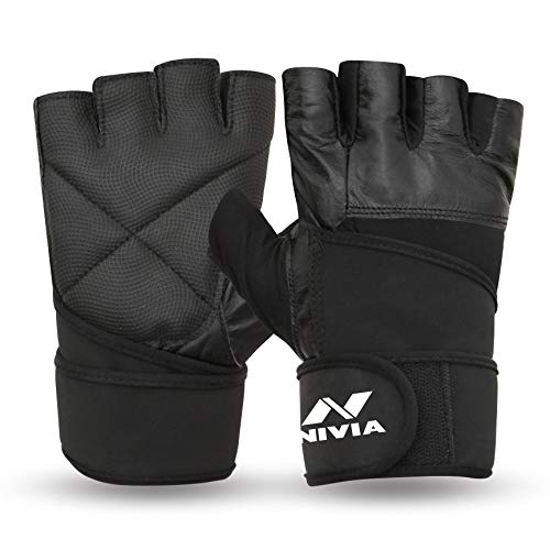 Nivia Pro Wrap Gym Gloves (M)