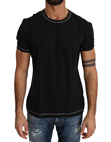 Dolce & Gabbana Herren T-Shirt Black Cotton Stretch Underwear T-Shirt Gr:M