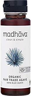 MADHAVA Organic Fair Trade Agave, 11.75 oz. Bottle (Pack of 6) | 100% Pure Organic Blue Agave Nectar | Natural Sweetener, ...
