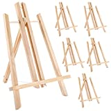 Jekkis 14' Wooden Easel, 6 Packs Tabletop Display Easels, Art Craft Painting Easel Stand for Artist Adults Students Classroom