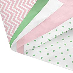 Pink and green multi colored tissue paper pack for paper pom pom tutorial