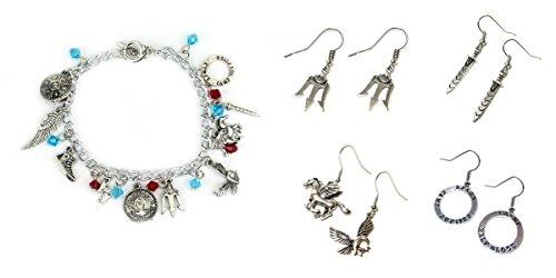 5 Pack Percy Jackson Earrings & Bracelet w/gift box from Outlander
