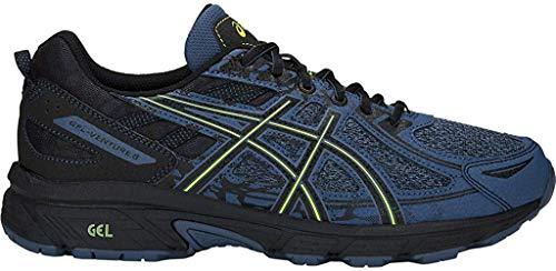 Asics - Gel-Venture 6 - Zapatillas deportivas de hombre para correr, Azul (Gran tiburón/Lima Neón), 42 EU