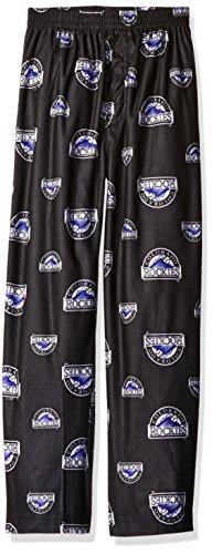 MLB Colorado Rockies Boys 4-7 Sleepwear All Over Print Pants, Medium (5-6), Black