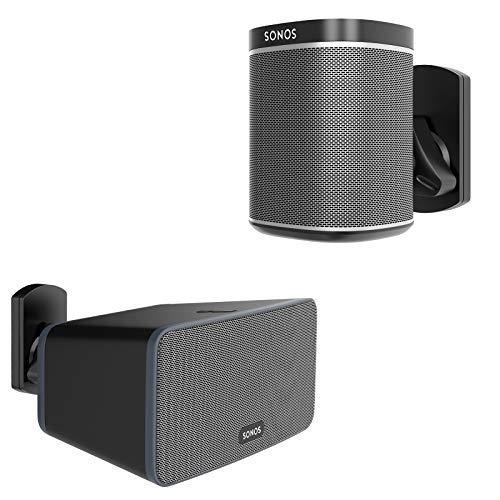 BONTEC Lautsprecher Wandhalterung für Sonos Play:1 und Play:3, Schwenkbar & Neigbar, Schwarz