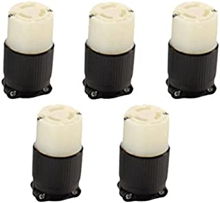 OCSParts L6-15R Grounding Connector, 15A 250V AC, 2 Pole 3 Wire, cUL Listed, NEMA L6-15 (Pack of 5)