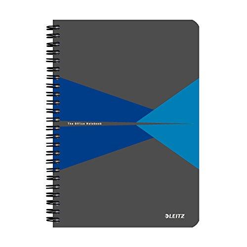 Leitz 44580035 Office Collegeblock A5 kariert, spiralgebunden mit Karton Einband Blau