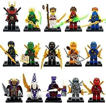 Sbolang Ninjago - Minifiguras (15 unidades)