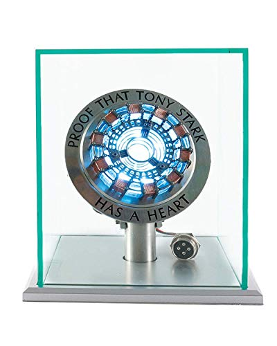 New Version 1:1 Iron Man Arc Reactor MK1,with LED Light, Tony Stark has a Heart Touch Sensitive, No Remote Control Required,Totally Easy Assembly ,USB Interface (with Display Case)