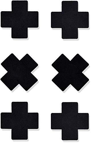 Iris & Lilly Damen Klebe-BH, 9er-Pack, Schwarz (Black), One Size, Label: One Size