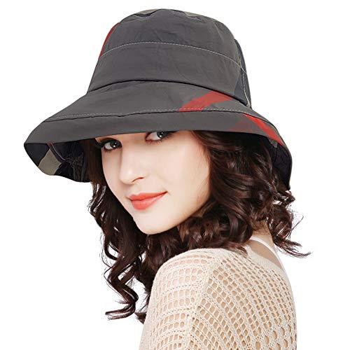DOCILA Wide Brim Bucket Hat for Womens Waterproof Rain Hats Packable Fishing Camping Sun Visor Caps (Darkgrey)