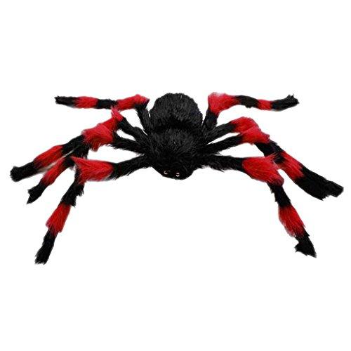 75 cm Grand Peluche De Araña De Juego - Negro y Rojo