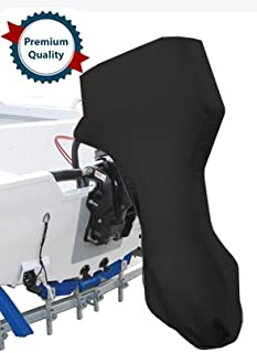 Oceansouth Full Outboard Motor Engine Cover Black Fits Motors from 9.9hp to 30hp