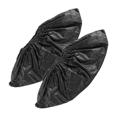 1 par de Zapatos Reutilizable Fundas Lavables Impermeables a Prueba de Agua Cubrezapatillas Calzado Zapatillas de Deporte de Las Botas Cubierta Protectora, Negro