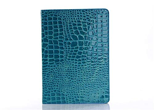 QiuKui Tab Cover For iPad 2018 9.7 2017 5th 6th, Protector Shell Tablet Cases, Crocodile Grain Flip Leather Stand Case Cover for iPad 5/6 Air Air 2 (Color : Blue)