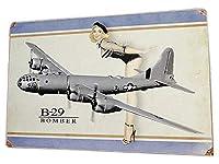ピンナップガール 戦闘機のU.S.ヘヴィースチールサイン B-29 ボンバー アメリカン雑貨 インテリア雑貨 ブリキ看板 アメ雑貨 スティールサイン 標識看板 メタルサイン 壁掛け インテリア ティンサイン