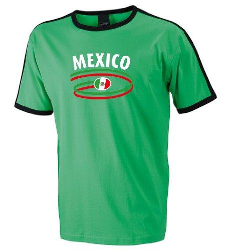 world-of-shirt Mexico Herren T-Shirt Dynamic Retro Trikot|grün L