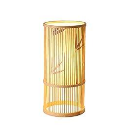 lampadaire Lampes à la maison en rotin de lampe, étude de salon de chambre à coucher personnalité créatrice lampadaires…