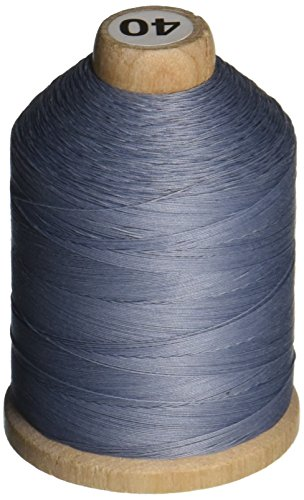 YLI 21100-013 3-Ply T-40 Cotton Hand Quilting Thread, 1000 yd, Blue