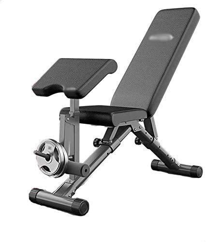 TGFVGHB Banco de peso, ajustable plegable silla de fitness Banco de entrenamiento multifunción Sit-up Dumbbell Bench Supine Board Equipo de fitness profesional Banco de entrenamiento