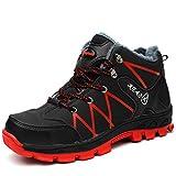 NACKINg - Zapatos de seguridad para hombre y mujer S3, impermeables, con puntera de acero, cálidos y forrados, de seguridad, color Negro, talla 40 EU