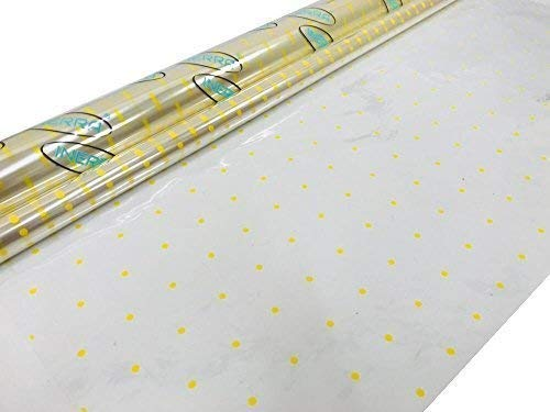 Inerra Yellow DOT film roll fiorista Gift Floral Dotted Wrap spessore 38 micron