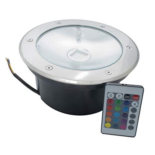 Foco LED 30 W transitable RGB indicador de camino empotrado suelo jardín 230 V IP65