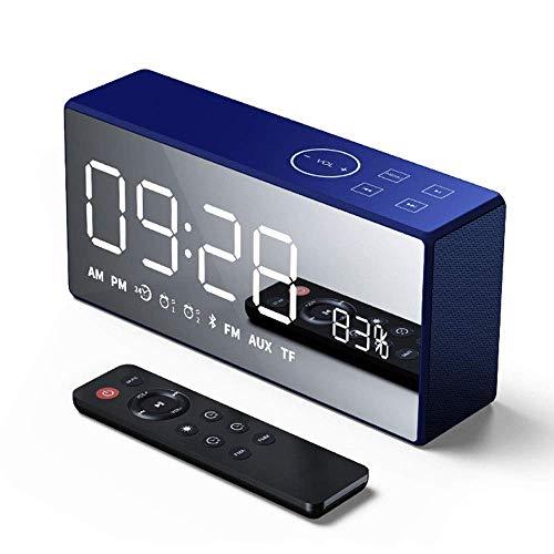 GaoF Altavoz Bluetooth inalámbrico, Altavoz Retro con Reloj de Espejo para Exteriores y Ordenador, Sonido de Baile Cuadrado Creativo y